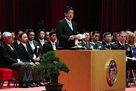 日媒:安倍在日本防卫大学训话后,日本防卫费恐增至10万亿日元