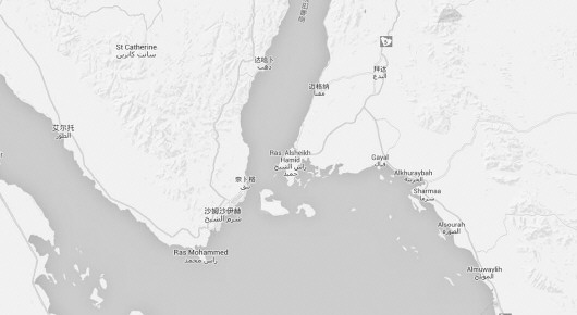 ◥蒂朗岛和塞纳菲尔岛地处红海,距离埃及和沙特都很近.