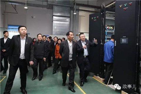 吴官正在东莞参观视察企业