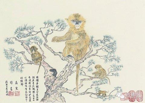 吴官正画作《猴王》