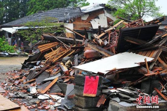 外媒:日本熊本地震致259死 其中四成因恐惧而死