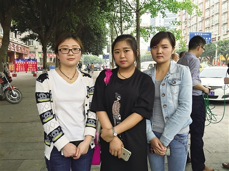 参与救人的黄晓秘、杨莉和汪澜芳记者
