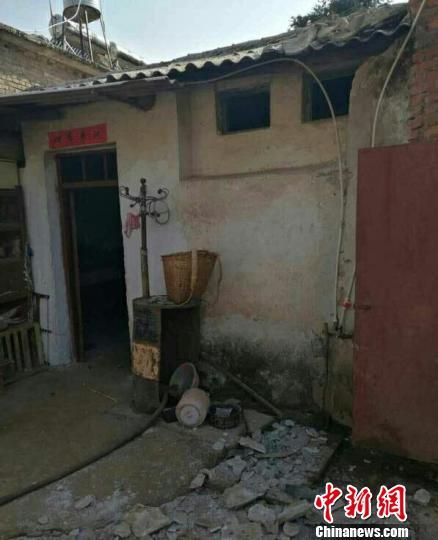 地震造成部分房屋损坏。