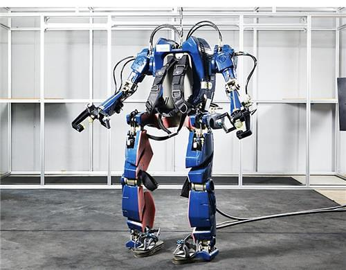 资料图片:可穿戴式机器人外形。