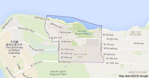 豪宅所在的温哥华格雷岬区,地段风景非常好。