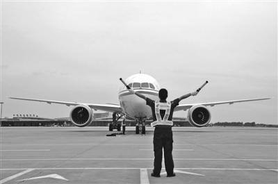 """波音787-9飞机方向舵""""成都造"""""""