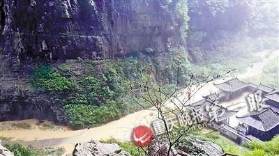 武隆天生三桥景区被淹
