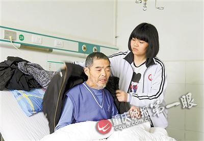 谈莉之前照顾肺癌晚期的爸爸