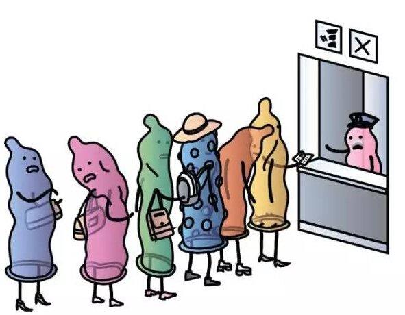西方媒体讽刺俄罗斯禁止从西方进口避孕套的漫画。