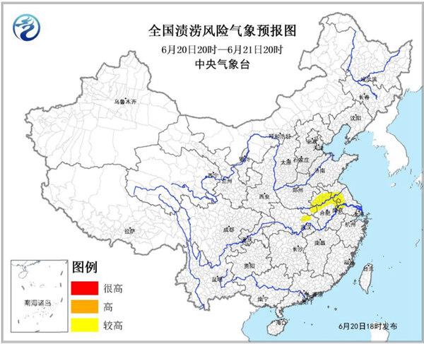 渍涝风险气象预报 安徽江苏等地风险较高