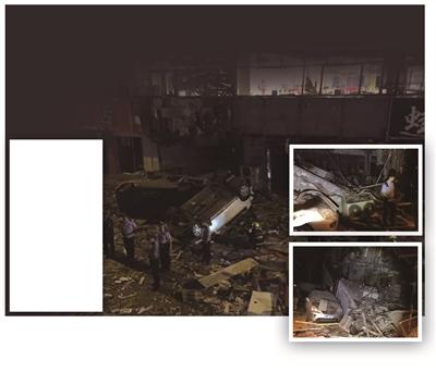烧烤店凌晨爆炸22人轻微受伤 碎碴铺街,轿车被翻了个底朝天