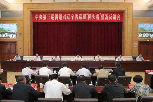 """中央第三巡视组向辽宁省反馈巡视""""回头看""""情况。图片来源:中央纪委监察部网站"""