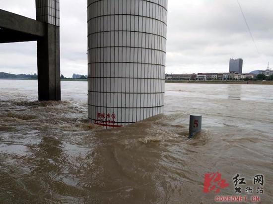 常德澧水流域迎2010年来最大洪水石门站超警戒水位