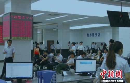 材料图:天津沿海新区行政批阅局处事大厅