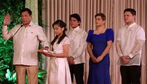 菲律宾总统杜特尔特宣誓就职