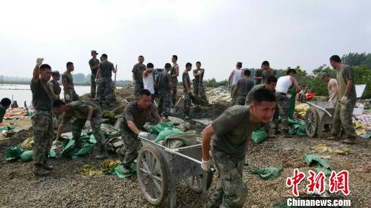 解放军陆军军官学院官兵成功处置合肥撮镇塌方险情