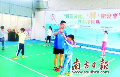 西江镇开设羽毛球免费培训班