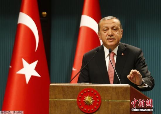 当地时间2016年7月20日,土耳其安卡拉,土耳其总统埃尔多安在政变后发表讲话。