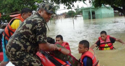 尼泊尔暴雨引发洪水和泥石流 58人死数十人失踪