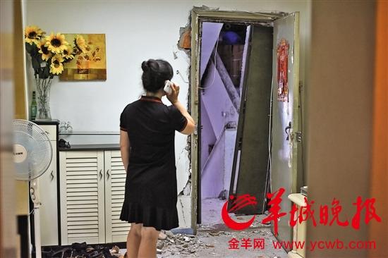 深圳居民躲避台风住进宾馆 回家发现房屋被砸