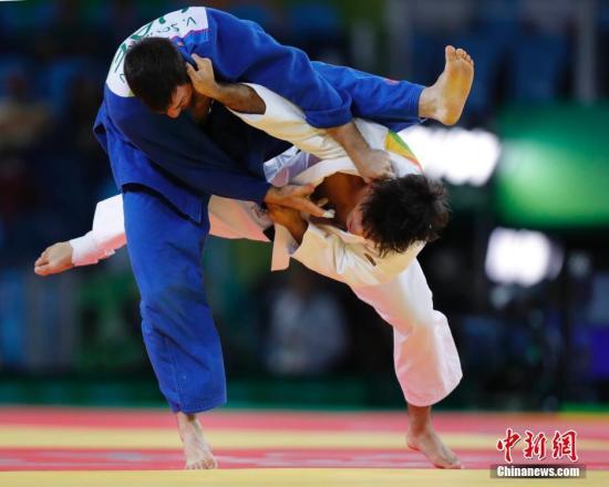 资料图:里约奥运会男子柔道比赛。 中新网记者 盛佳鹏 摄