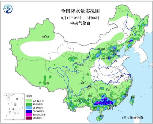 京津冀等地出现分散性暴雨 局地点雨量100~180毫米