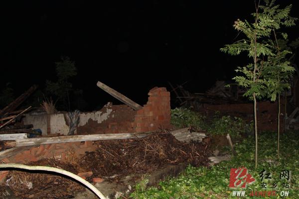 安乡县部分乡镇遭遇暴雨大风袭击 最高风力达8级