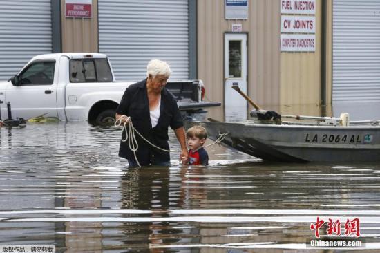 美国路易斯安州洪水致11人死亡 4万民居被淹