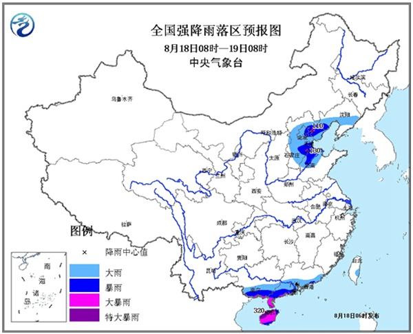 灌南县天气预报-暴雨黄色预警 河北大部有大雨或暴雨 局地大暴雨
