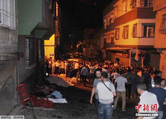 土耳其一婚礼现场发生爆炸 至少22人丧生94人伤