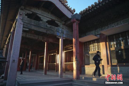 北京故宫博物院养心殿外景。中新社记者 刘关关 摄