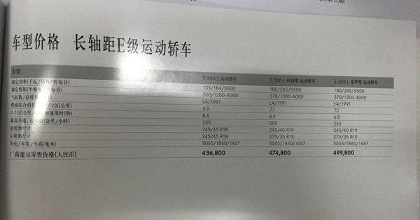 劲爆!奔驰E级长轴版价格提前曝光!