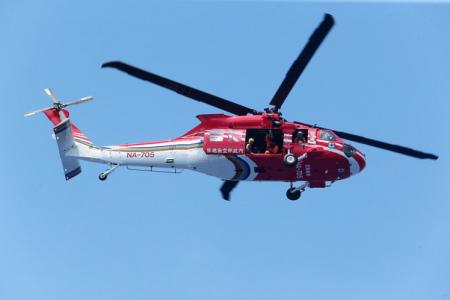 黑鹰直升机。记者刘学圣/摄影
