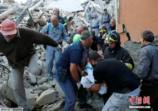 意大利中部强震已致21人死亡