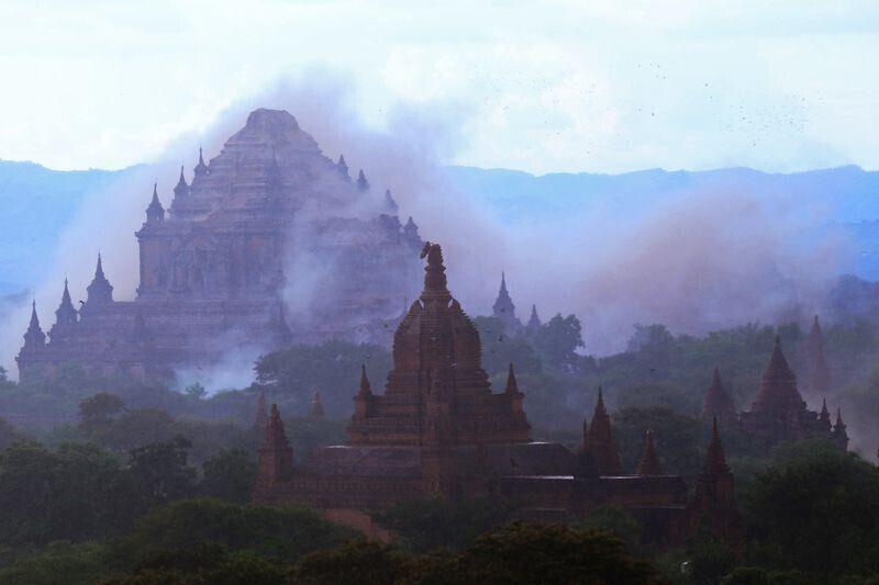 缅甸6.8级地震导致古城蒲甘近200座佛塔被毁