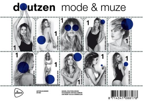 荷兰邮局推维密超模邮票 前卫设计(图)