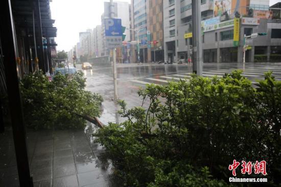 """台湾本岛陆上台风警报解除 """"鲇鱼""""强度减弱"""