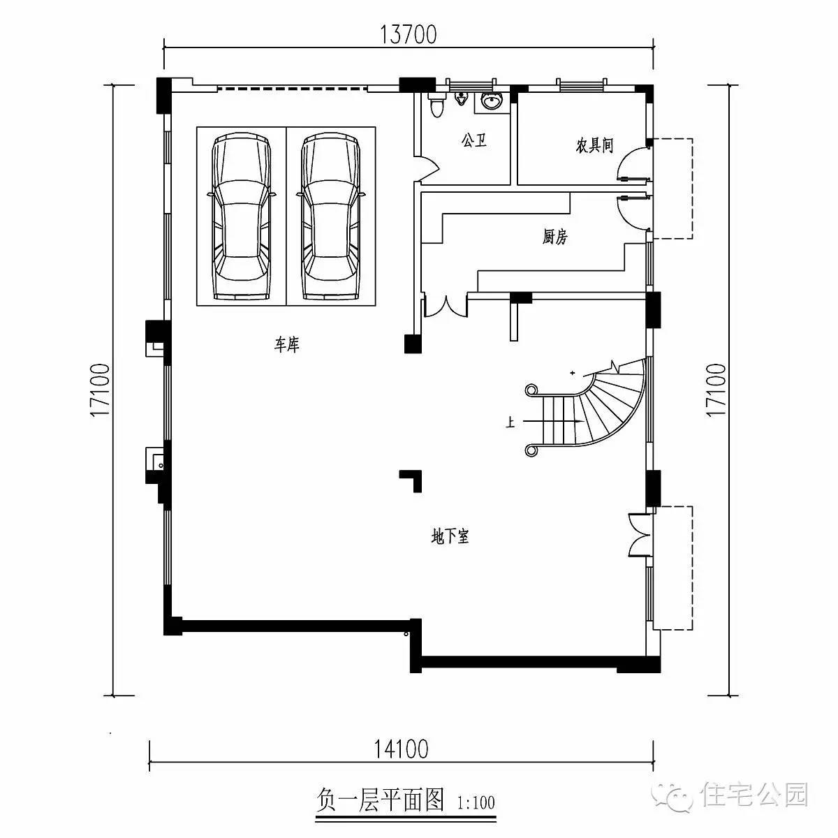 坡地建房,14x17米自建欧式别墅丨建筑师作品展