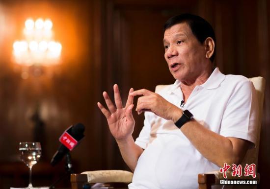 资料图:菲律宾总统杜特尔特。