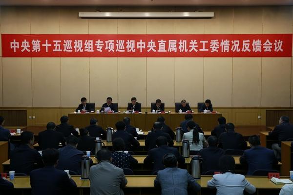 地方第十五巡查组向地方直属构造事情委员会反应专项巡查状况