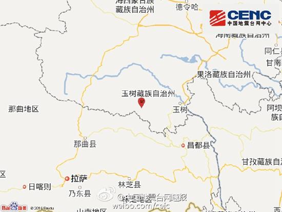 青海玉树发生3.6级地震 震源深度10千米