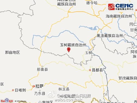 青海玉树发生6.3级左右地震 震中平均海拔4700米
