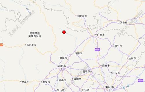 四川阿坝州松潘县发生3.2级地震