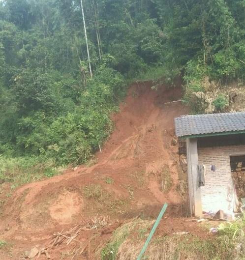 云南南部强降雨引发泥石流灾害 致2人死亡(图)