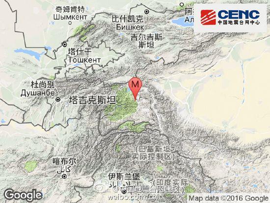 塔吉克斯坦发生3.1级地震 震源深度124千米