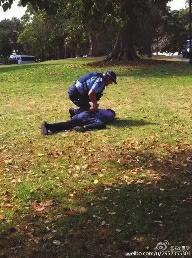 中国游客在澳洲随地便溺被捕 欲打警察被摔骨折