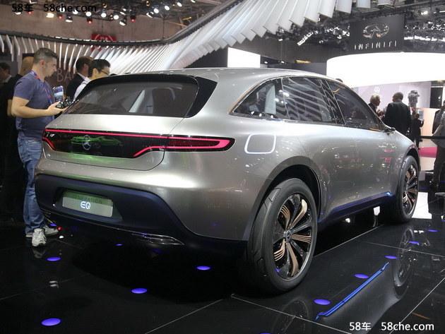 奔驰EQ概念车将广州车展亮相 纯电驱动