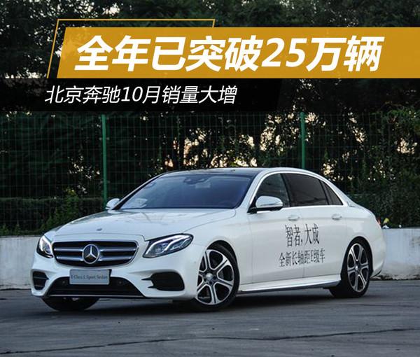 北京奔驰10月销量大增 全年已突破25万辆