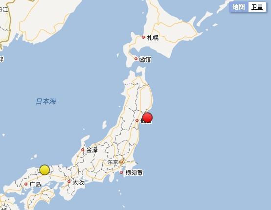 日本本州东岸近海发生6.0级地震 震源深度60公里