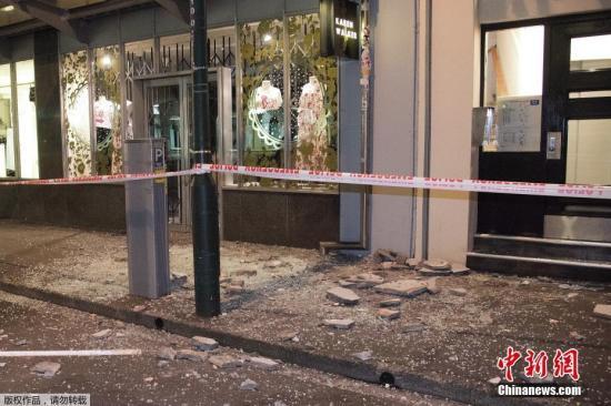新西兰强震已致两死 仍未联系上受灾最重地区
